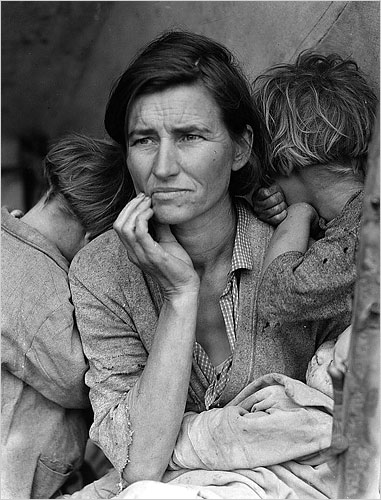 "Dorothea Lange's ""Migrant Mother"" introduced one segment of America to another.CreditLibrary of Congress Prints and Photographs Division"