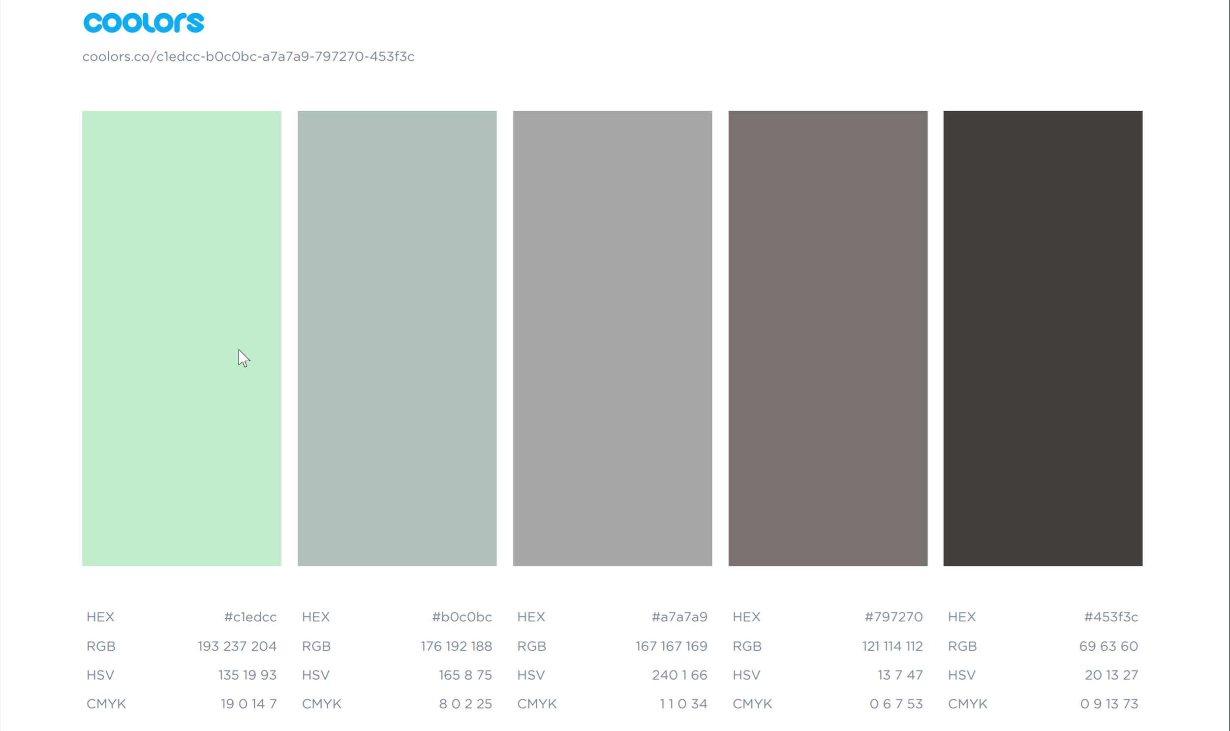 Save your palette - Common color value formats included