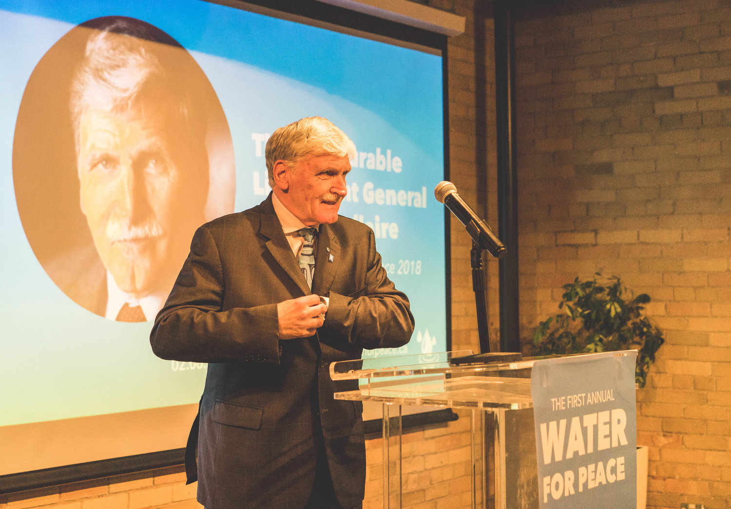 General Dallaire inspires Canadians to lead on global water crisis at first annual Water for Peace