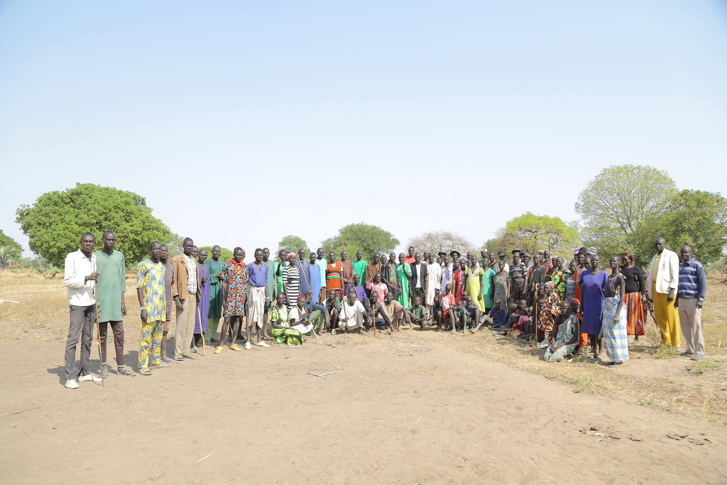 Community members of Thiet in Tonj, South Sudan. All photos:  Jean Luc Habimana