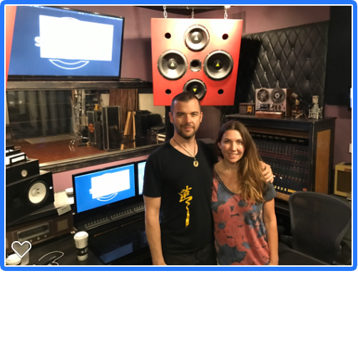 - With Kirsten after her vocal session at studio 637 in LA