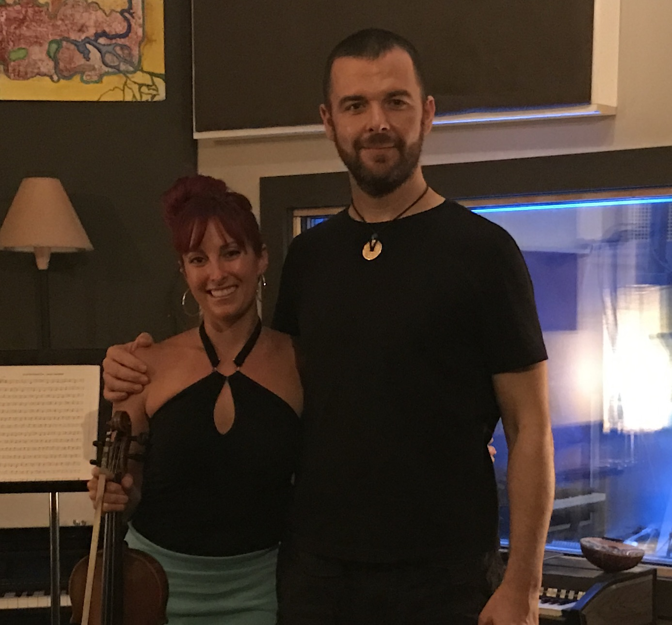 With Natasha Ratz after her amazing violin session