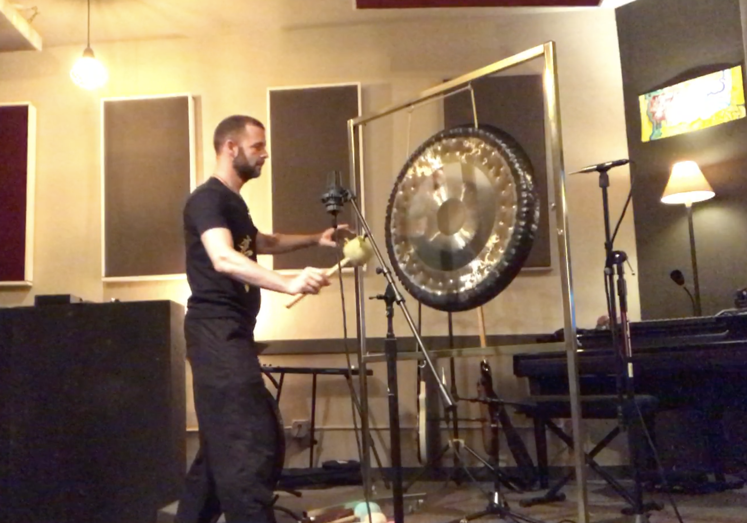 It took hundred of takes and 6 different gongs to get the perfect sound..The gongs hit at the minute mark on each track so you can use it as a timer in your meditation, tai chi, yoga and qigong.
