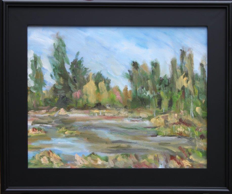 Fern Ridge Pond Oil on Canvas 16 x 20 $425.00