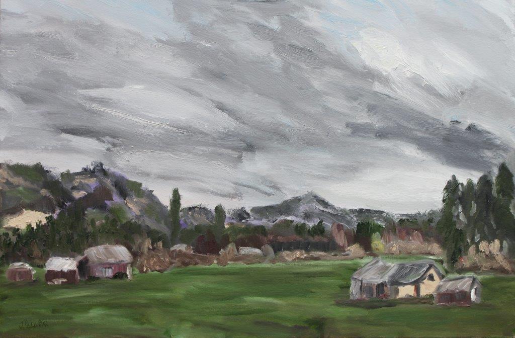 November Coburg Oil on Canvas 24 x 36 $450.00