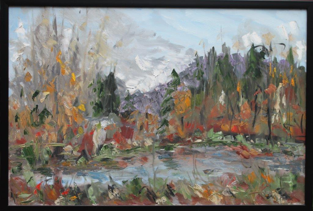 Delta Pond Oil on Canvas 24 x 36 $500.00