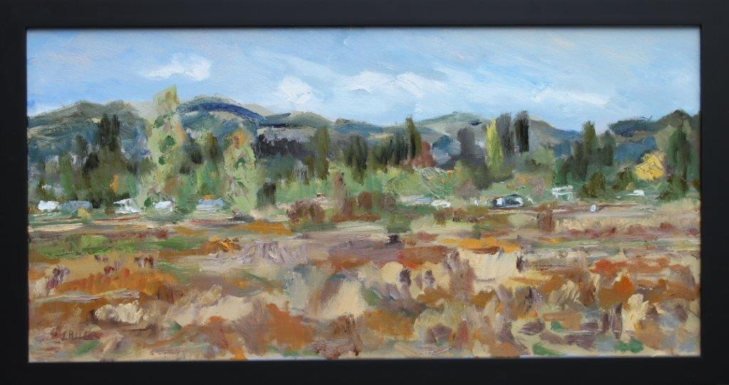 West Eugene Wetlands Oil on Canvas 15 x 30 $425.00