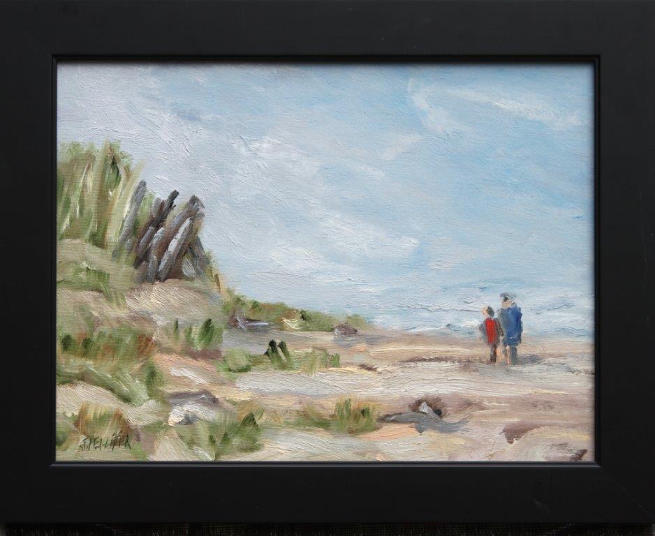 Beach Morning Oil on Panel 12 x 16 $325.00