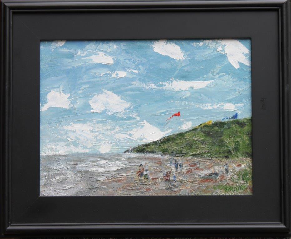 Kites on Heceta Beach Oil on Panel 12 x 16 $350.00