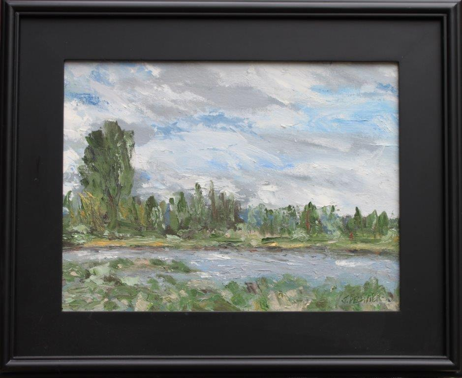 Sunriver Deschutes Oil on Panel 12 x 16 $375.00