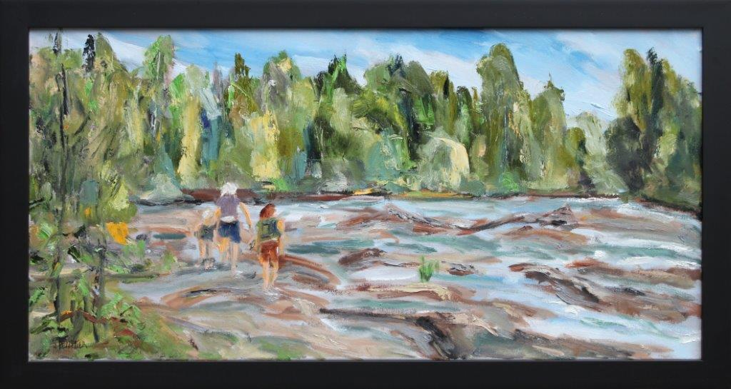 Three Waders Oil on Canvas 15 x 30 $400.00