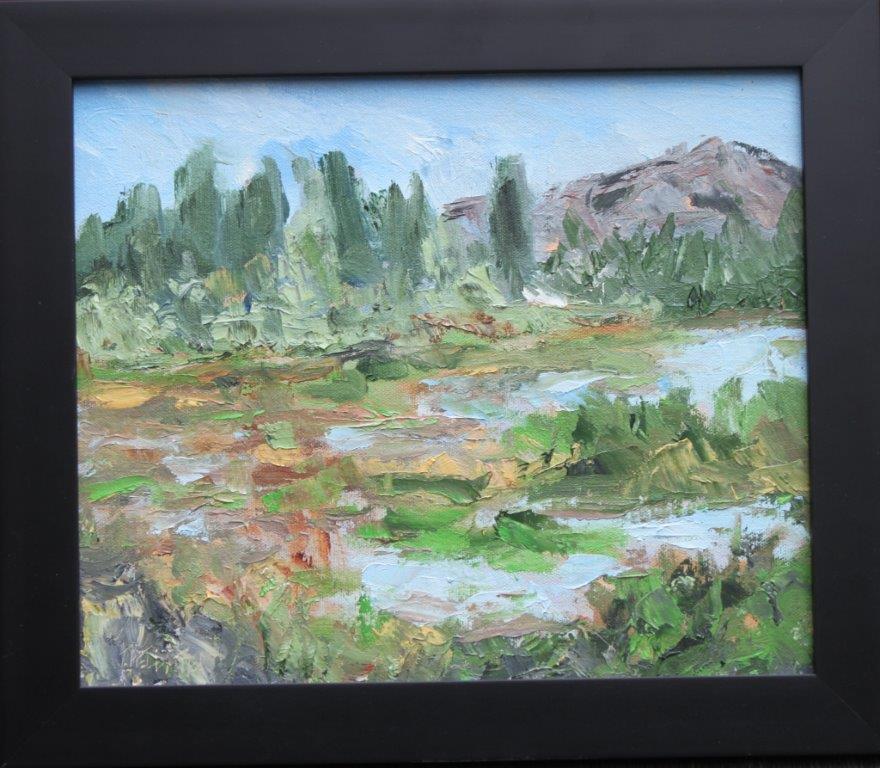 Fern Ridge Edge Oil on Panel 10 x 12 $225.00