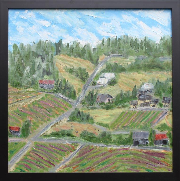 Sweet Vineyard View Oil on Panel 24 x 24 $345.00