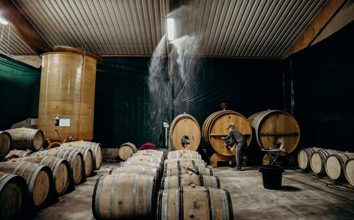 Brian McClintic in the Winery