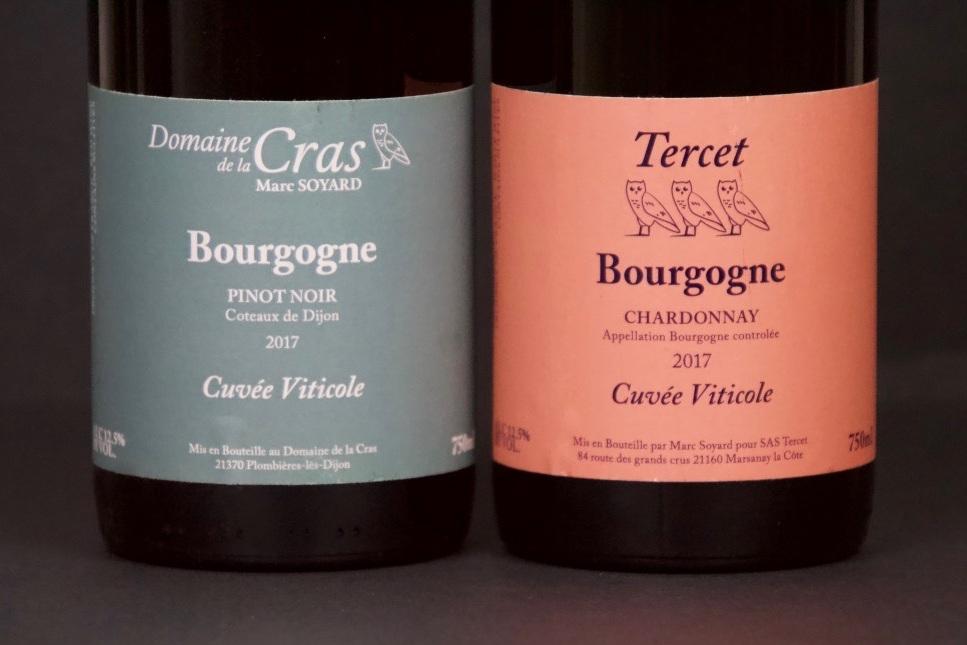 November 2018 - Marc Soyard / Tercet Bourgogne Blanc and Domaine de la Cras Bourgogne Rouge (Cuvee Viticole)
