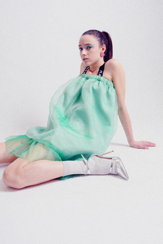 Dress: Alex S. Yu Socks: Urban Outfitters Shoes: Aldo Earrings/Neclace: TopShop