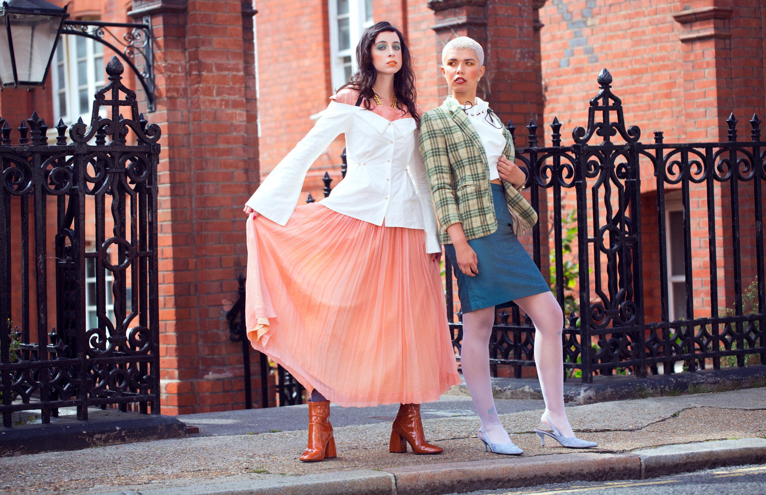 Look 2: Jewellery&Shoes: Stylist's own Shirt: Eren @atelier_eren Skirt&Tights: Peony Vintage @peonyvintage Coat: Peony Vintage @peonyvintage