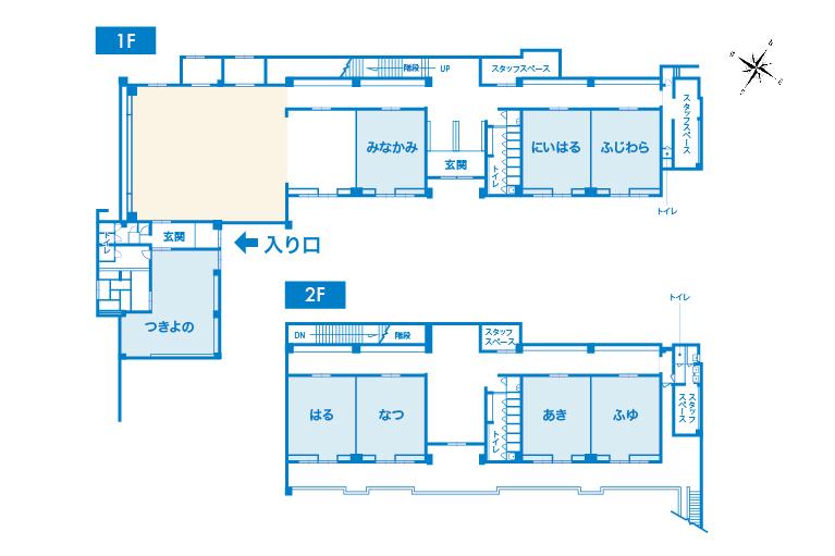 テレワークセンターMINAKAMIの見取り図