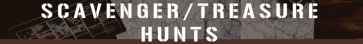 Scavenger Hunts-these can be handled by you at no fee or we can make very custom hunts and staff them. $200-10 guests, $10 per extra.