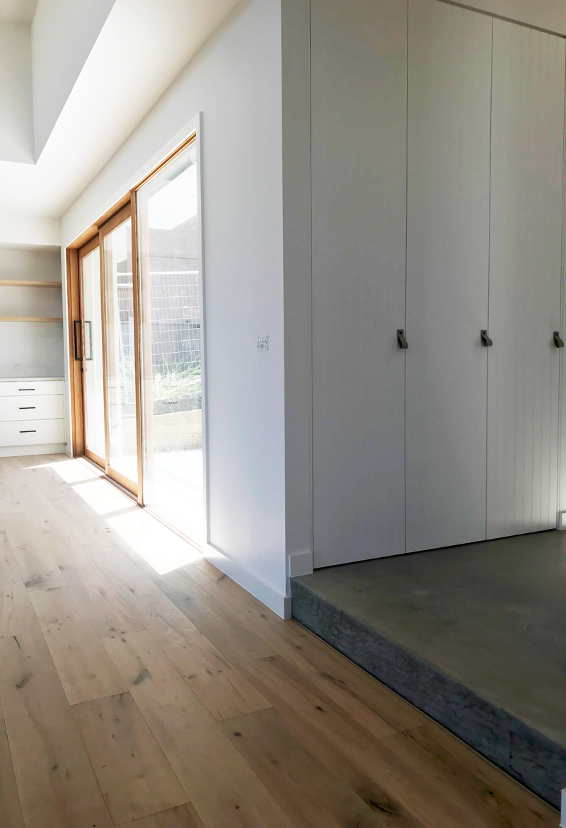 Ample Storage Options practical for a family home renovation