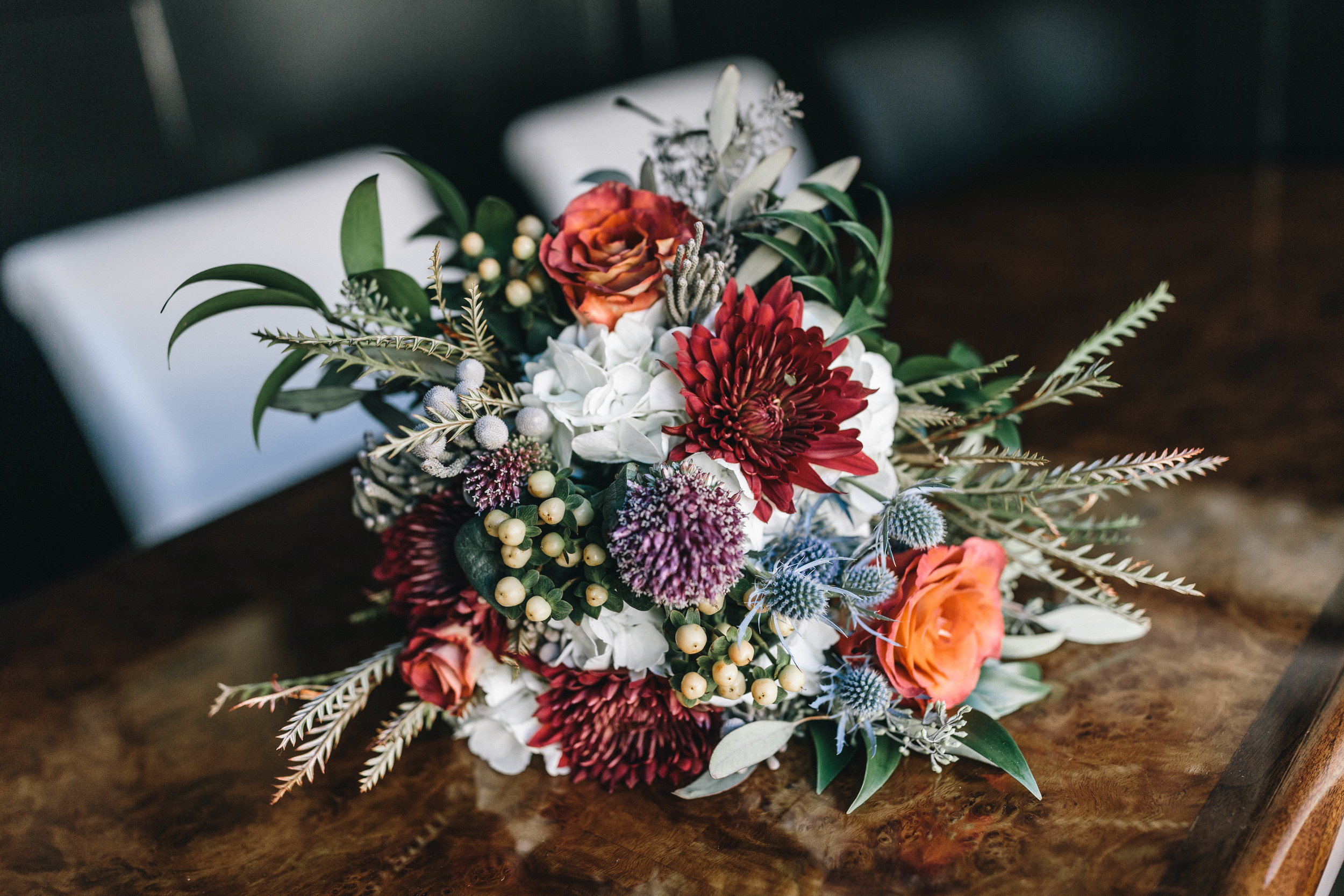 John Davis Florist Jewel Tone Bouquet Savannah Wedding Planning by Fleeting Elegance