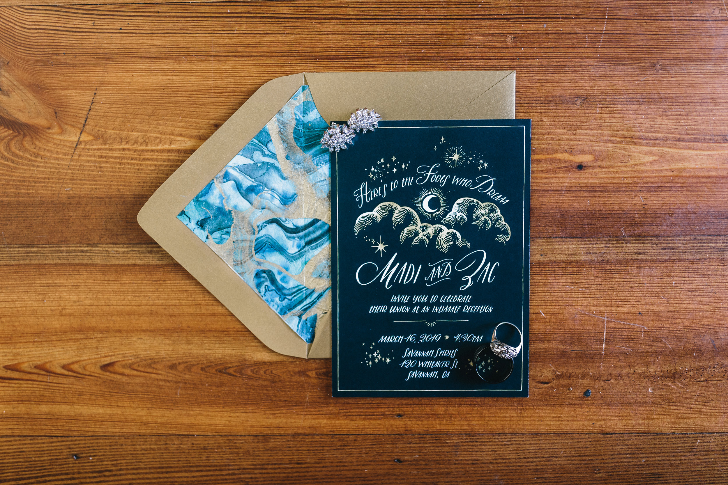 Savannah Wedding Invitations, Planning by Fleeting Elegance