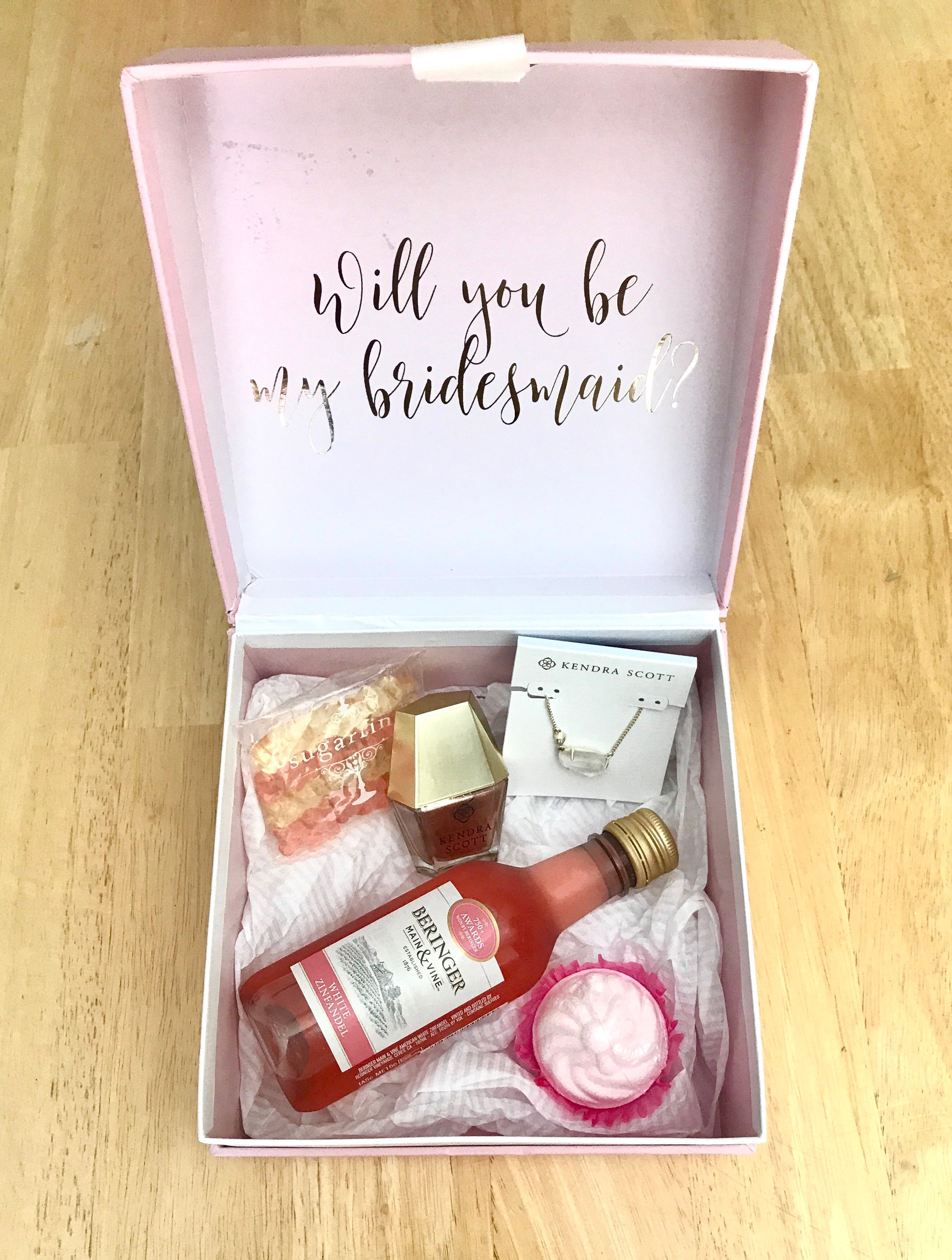 Bridesmaid Proposal Box- Savannah Wedding Planner Fleeting Elegance