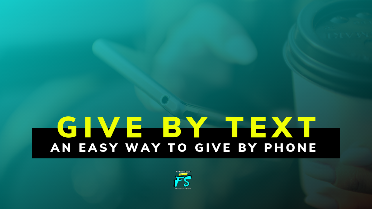 Text To Give - Quick and easy giving on the Go! You can give by texting the amount ($) to (510) 426-7004.If your card or account information changes you will need to update your information online prior to using text to give.
