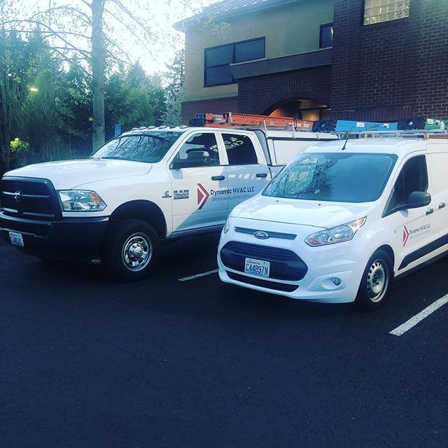 Up bright and early working to make sure everyone's ready for the wonderful day ahead of us! 🌞Happy Thursday! #pnw #hvac #cummins #fordtransitconnect