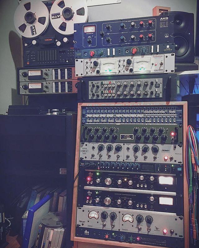 We got the goods. #tascam #analog #audioengineering #composerlife #musicproduction  #ampex #focusrite #dbx
