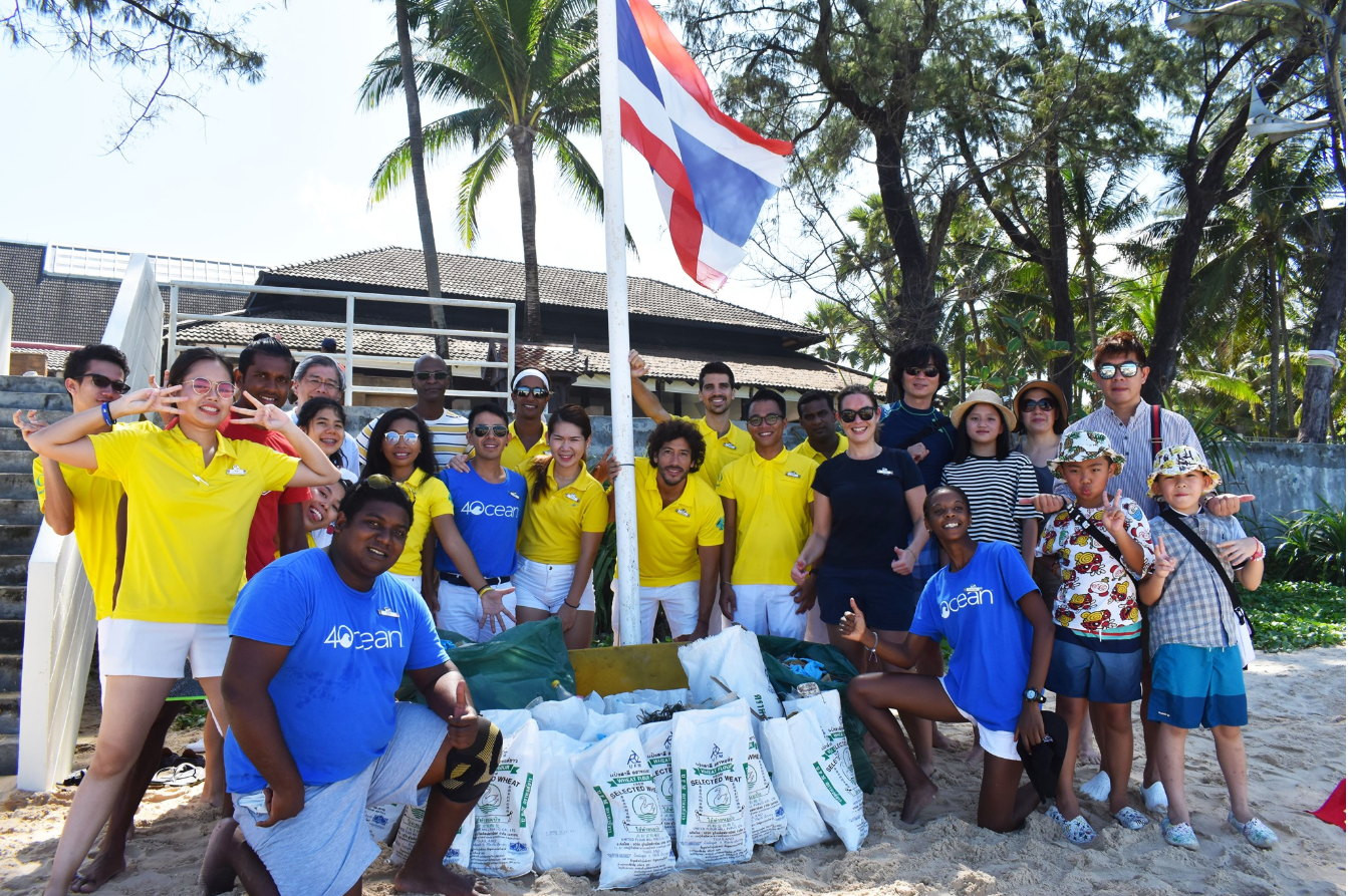 Acting for the environment   At  Club Med Phuket , our staff and guests all united to participate in the beach clean up while reusing rice bags.  Let's make a better and cleaner tomorrow!