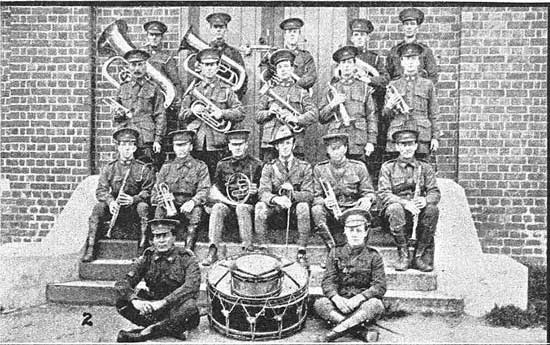 The band from Claremont Army Camp. [Tasmanian Mail 8th August 1918 p17]