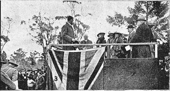 Sir Herbert Nicholls on the stand.  [Tasmanian Mail 8th August 1918 p17]
