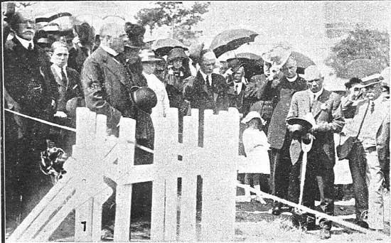Governor Sir Francis Newdegate giving his speech.  [Tasmanian Mail 20th February 1919 p18]