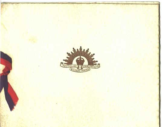 Professionally printed Christmas card 1916. The illustration is by Keith in ink.