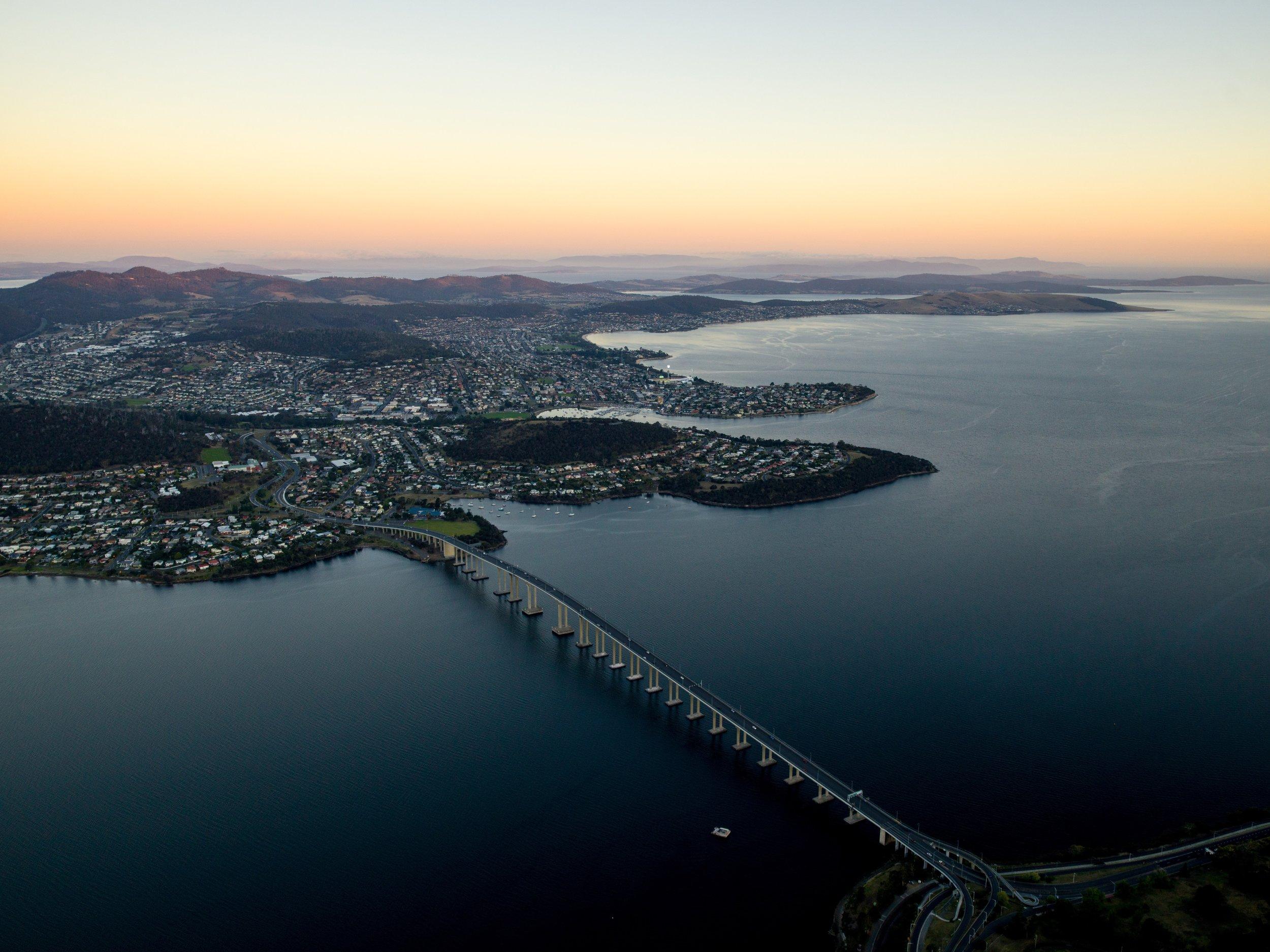 The Tasman Bridge.  ©   Events Tasmania and Alastair Bett.