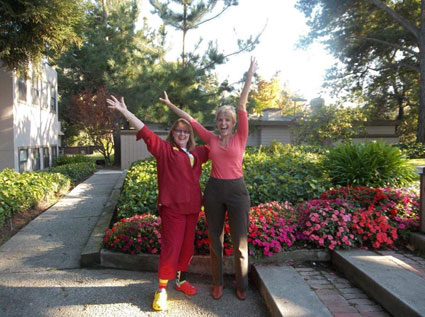 Laughter Yoga session in Walnut Creek with Dr. Nissen