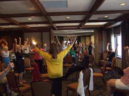 Laughter Yoga exercise at the MENSA Conference