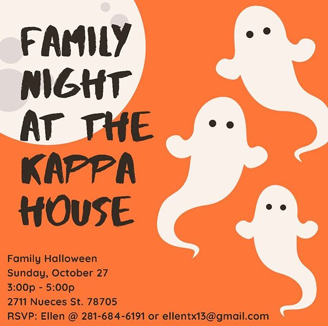 Hope to see all your little pumpkins at the ZTA Kappa Chapter for Family Halloween! 🎃