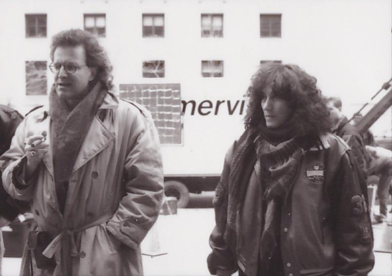 Carlos Ferrand and Michka Saäl shooting Tragedia in Toronto.  Photo: Karen Fernandez