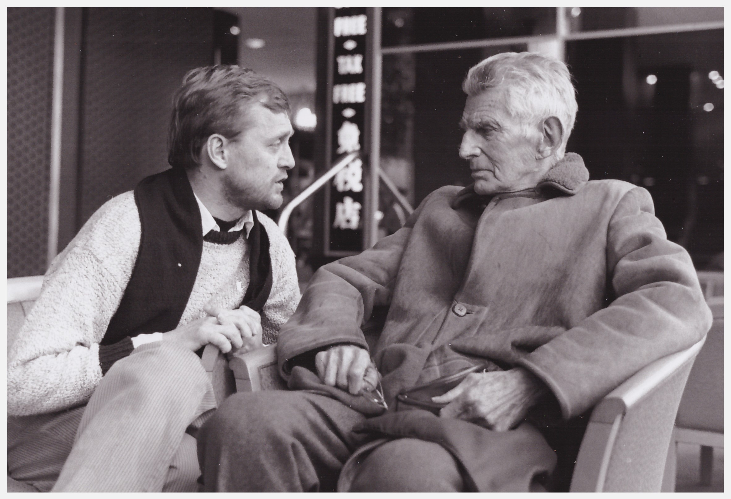 Jan Jonson and Samuel Beckett. Photo: Beppe Arvidsson