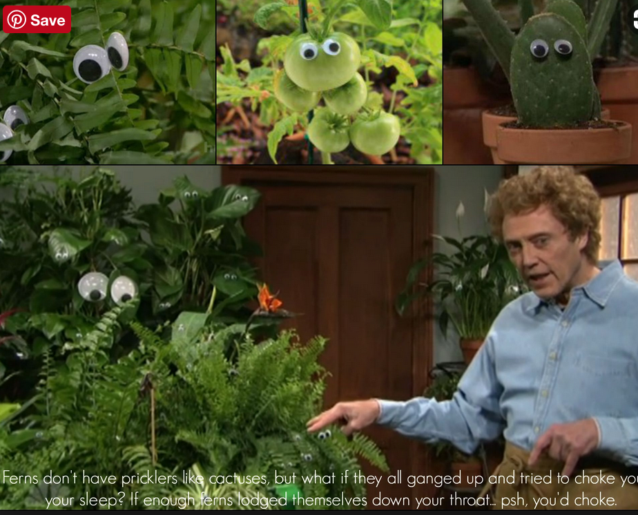Christopher Walken as the Googly Eye Gardener-Watch it!