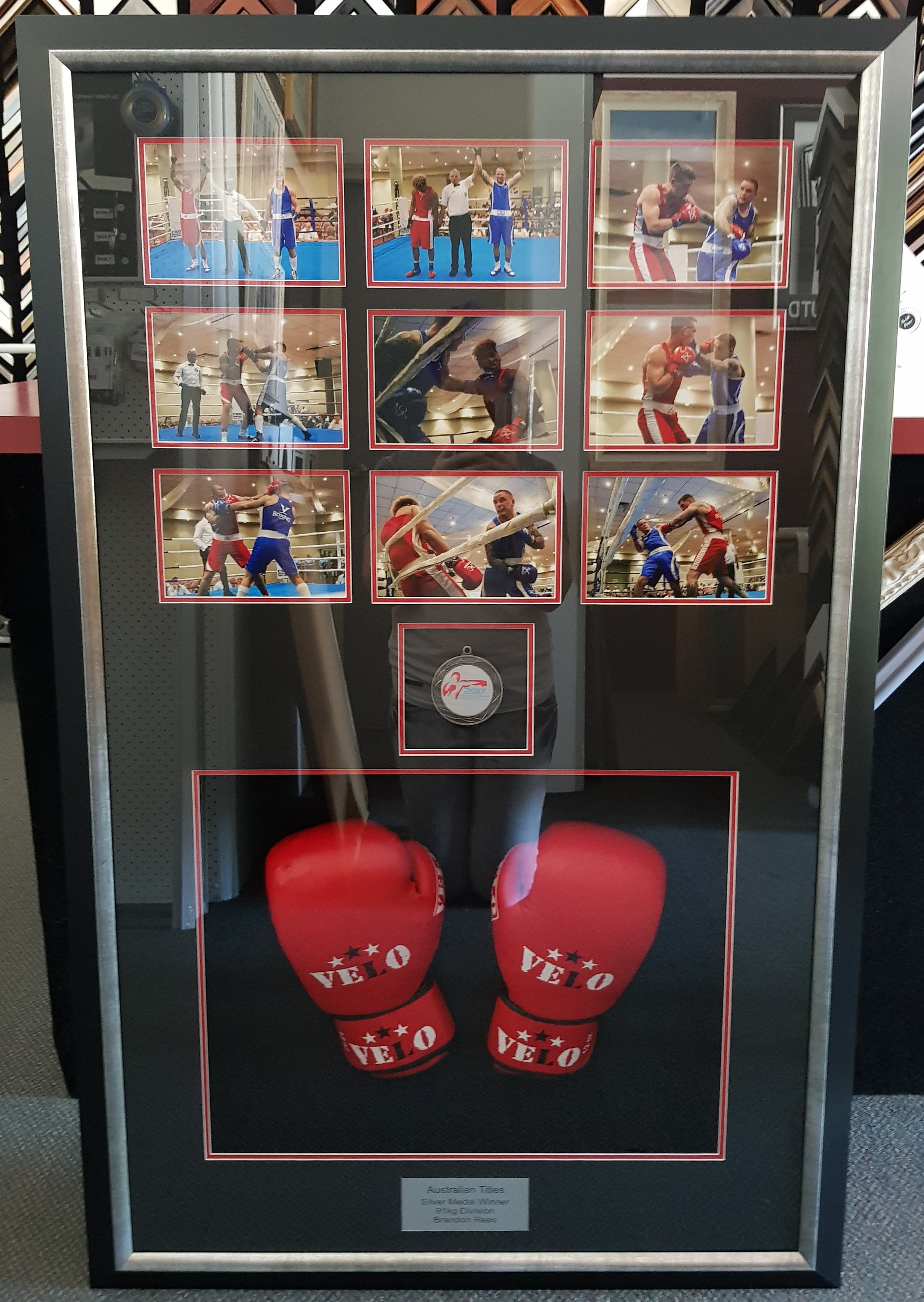 Boxing Gloves, Medals & Photos
