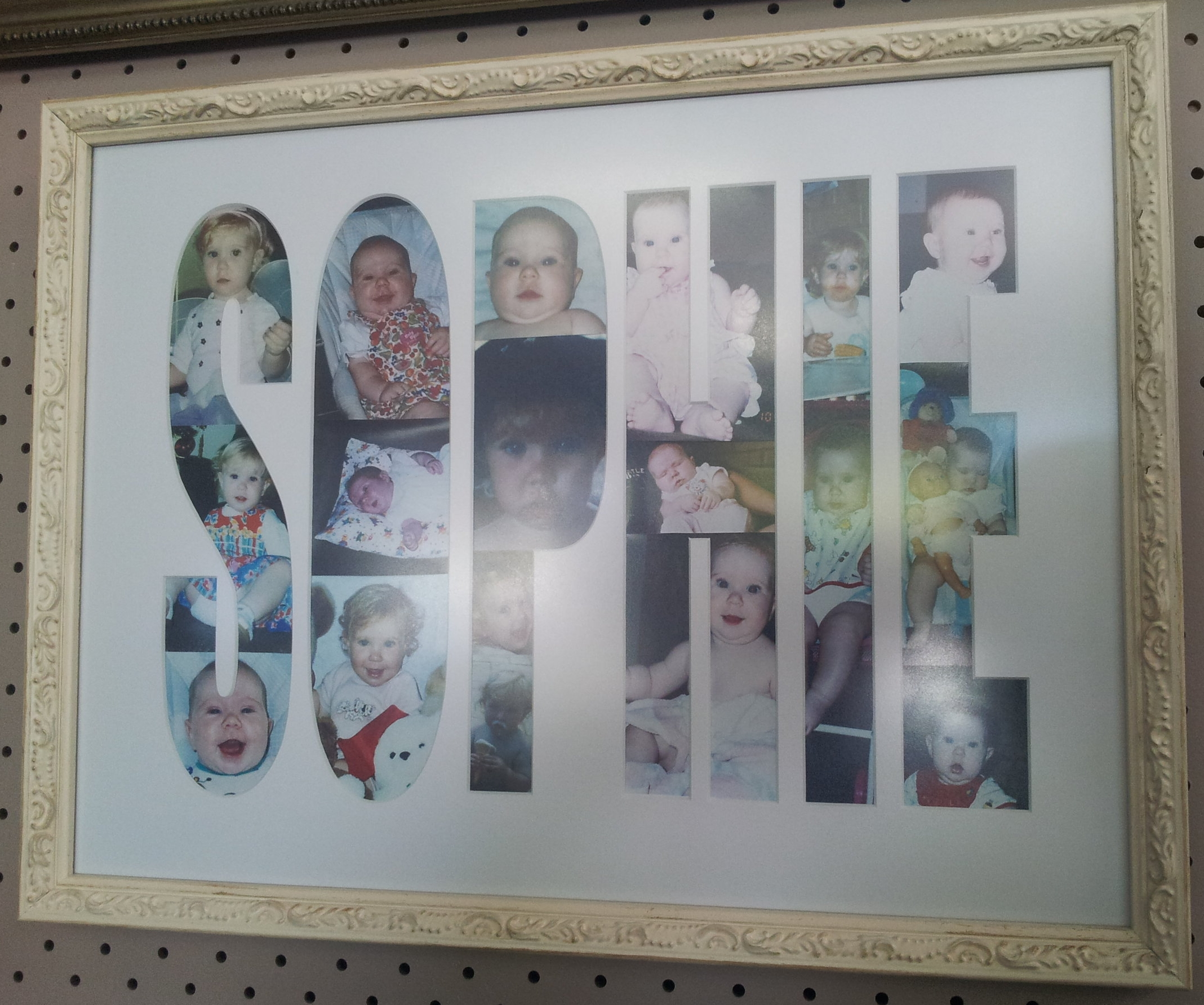 Personalise a name with photos