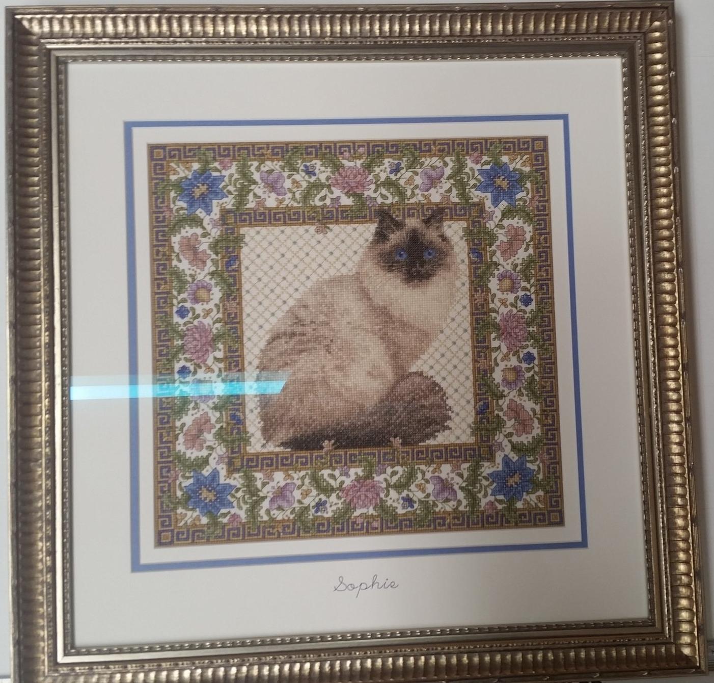 Sophie the Cat Cross-Stitch