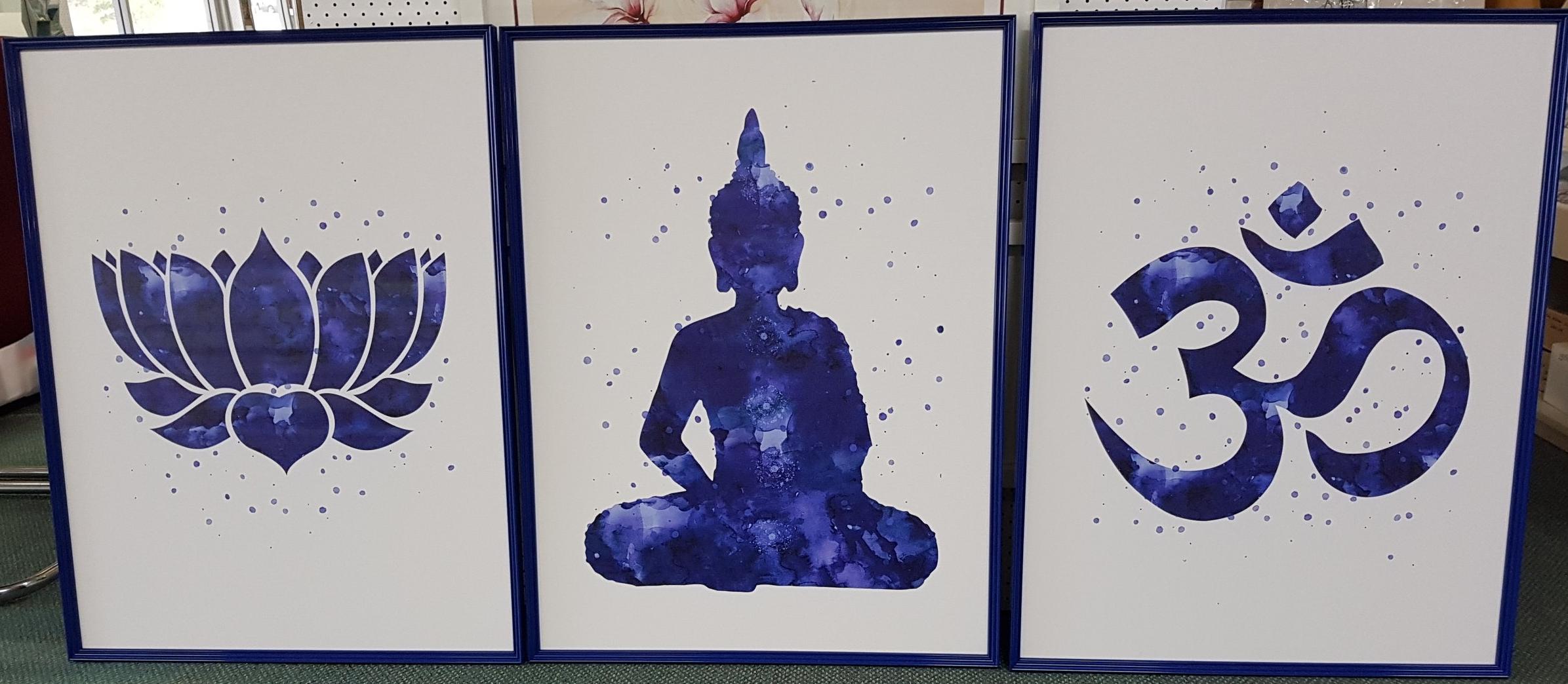 3 Canvas Prints Framed