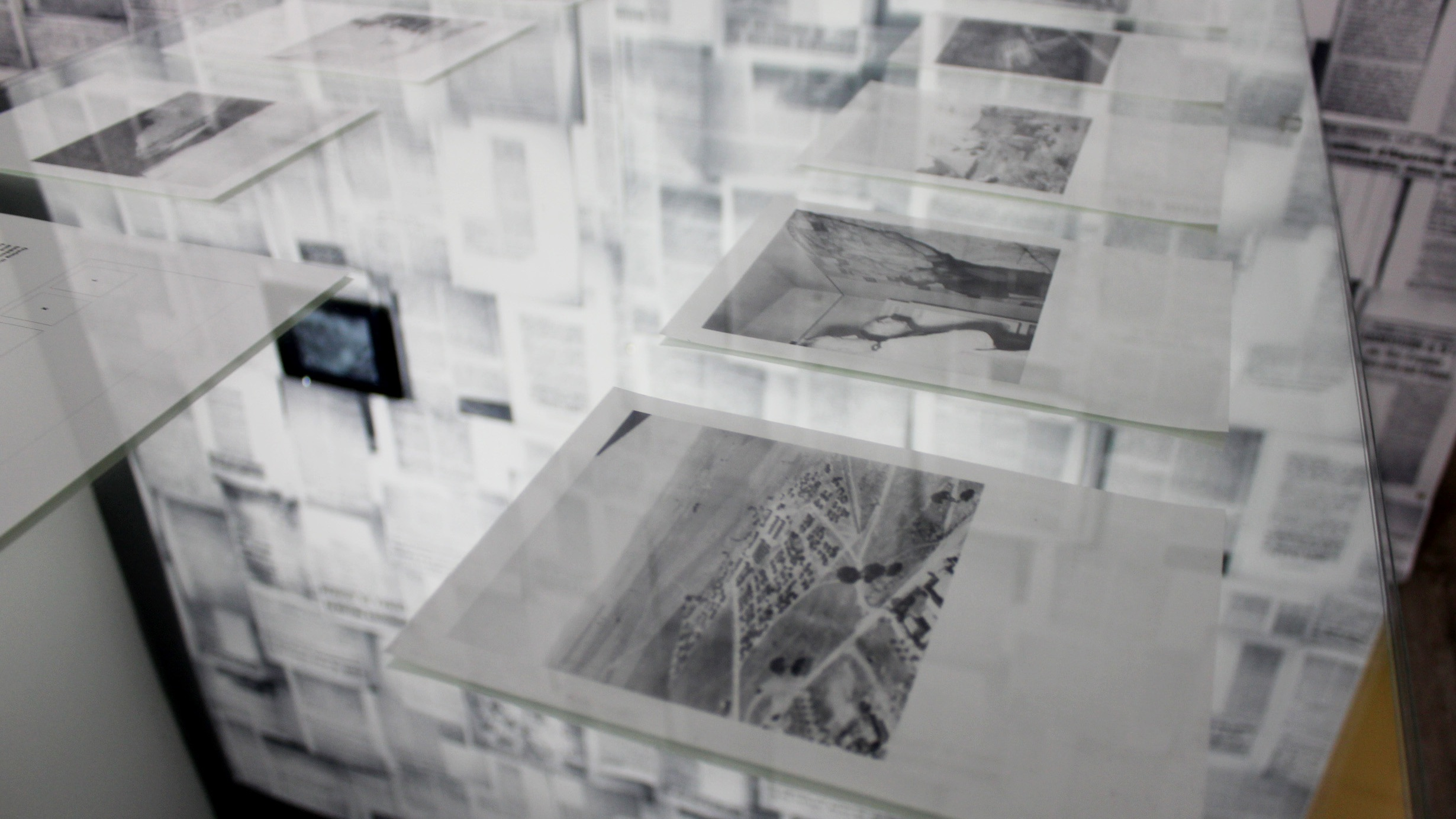 Samia Henni,  Discreet Violence: Architecture and the French War in Algeria.  Installation detail. Photo credit: Twelve Gates Arts and Sahar Irshad.