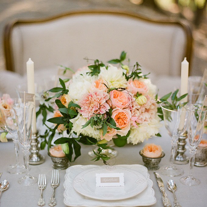 Spring Bouquet on a wedding table