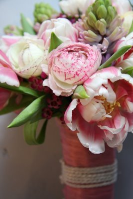 Close-up of a Spring Bouquet for wedding