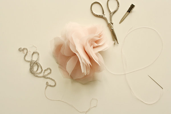 Image showing a paper, a scissor, pins, needle and thread, and a plain hair clip
